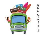 cartoon character travelers... | Shutterstock .eps vector #651999541