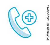 shadow emergency call cartoon | Shutterstock .eps vector #652000969