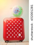 front view red polka dots...   Shutterstock . vector #652001281