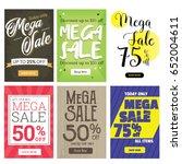 modern sale banner set ... | Shutterstock .eps vector #652004611