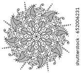 vector flower mandala.... | Shutterstock .eps vector #652006231