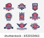 basketball logo  emblem set... | Shutterstock .eps vector #652010461