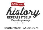 every time history repeats... | Shutterstock .eps vector #652010971