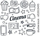 movie and celebrity related... | Shutterstock .eps vector #652015495