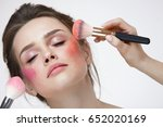 face beauty cosmetics. portrait ... | Shutterstock . vector #652020169