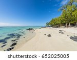 mauritius tropical paradise... | Shutterstock . vector #652025005