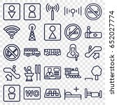 public icons set. set of 25... | Shutterstock .eps vector #652027774
