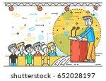 vector illustration orator... | Shutterstock .eps vector #652028197