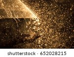woman hand with umbrella in the ... | Shutterstock . vector #652028215