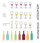wine icons set. wine bottles... | Shutterstock .eps vector #652029109