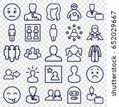 avatar icons set. set of 25... | Shutterstock .eps vector #652029667
