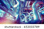 equipment  cables and piping as ... | Shutterstock . vector #652033789