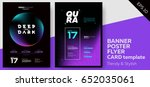 electronic music dark covers... | Shutterstock .eps vector #652035061