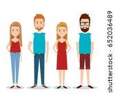 standing people set | Shutterstock .eps vector #652036489