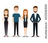 standing people set | Shutterstock .eps vector #652036504