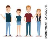 standing people set   Shutterstock .eps vector #652037041