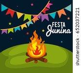 festa junina design | Shutterstock .eps vector #652037221