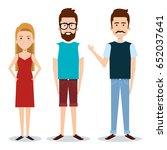 standing people design | Shutterstock .eps vector #652037641