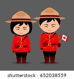 canadians in national dress... | Shutterstock .eps vector #652038559