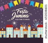 festa junina design | Shutterstock .eps vector #652038601
