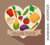 organic vegetables design | Shutterstock .eps vector #652039225