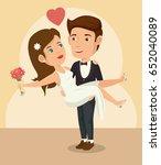 bride and groom design | Shutterstock .eps vector #652040089