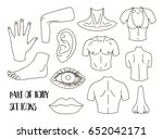 body parts icons set   Shutterstock .eps vector #652042171