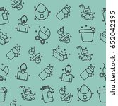 motherhood icons pattern | Shutterstock .eps vector #652042195
