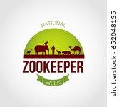 national zookeeper day vector... | Shutterstock .eps vector #652048135