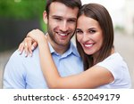 happy young couple  | Shutterstock . vector #652049179
