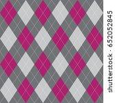 seamless argyle pattern pink... | Shutterstock .eps vector #652052845