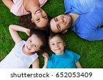 happy family outdoors    Shutterstock . vector #652053409