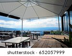 rooftop coffee shop and bar... | Shutterstock . vector #652057999