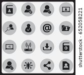 set of 16 editable global icons....