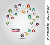 circle connection technology | Shutterstock .eps vector #652059304