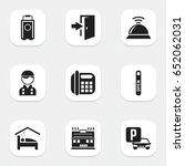 set of 9 editable plaza icons....