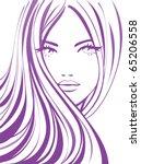 fashion girl. beautiful young... | Shutterstock .eps vector #65206558