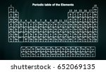 periodic table of the elements... | Shutterstock . vector #652069135