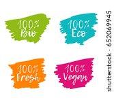 set of colorful food badges.... | Shutterstock .eps vector #652069945