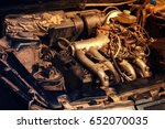 old car engine. toned | Shutterstock . vector #652070035