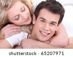 portrait of a man and a woman... | Shutterstock . vector #65207971