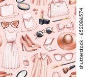 fashion illustrations. seamless ... | Shutterstock . vector #652086574