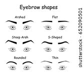 how to paint the eyebrows.... | Shutterstock .eps vector #652090501