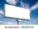huge blank billboard against... | Shutterstock . vector #65209114
