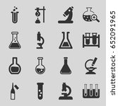lab icons set. set of 16 lab... | Shutterstock .eps vector #652091965