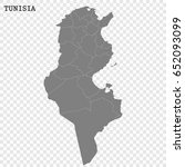 high quality map of tunisia...   Shutterstock .eps vector #652093099