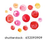 watercolor circles on a white... | Shutterstock . vector #652093909