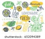 hand drawn doodle summer... | Shutterstock .eps vector #652094389