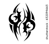 tribal tattoo art designs.... | Shutterstock .eps vector #652094665
