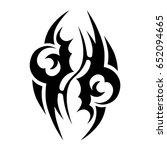 tattoo tribal vector design....   Shutterstock .eps vector #652094665